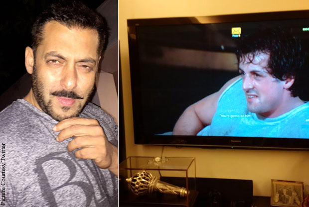 Salman Khan In Awe Of Rocky aka Sylvester Stallone