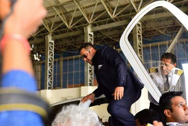 Salman Khan during his visit in Gondia