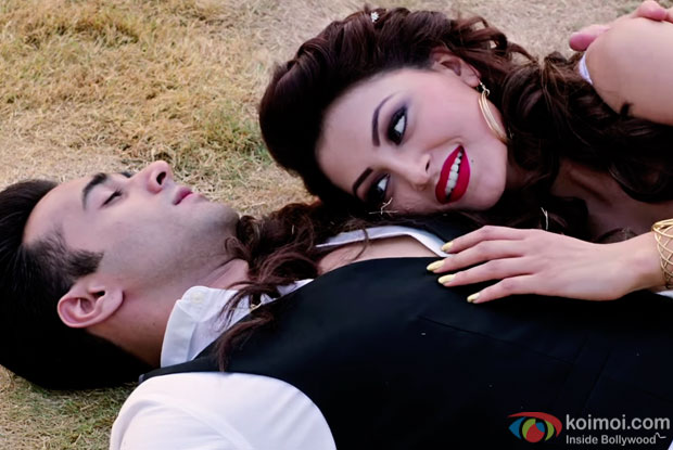 Pulkit Samrat and Urvashi Rautela in a still from 'Sanam Re'