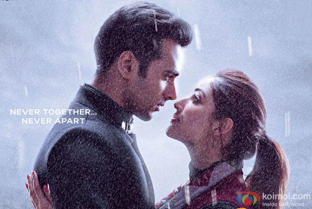 Pulkit Samrat and Yami Gautam in still from 'Sanam Re' movie poster