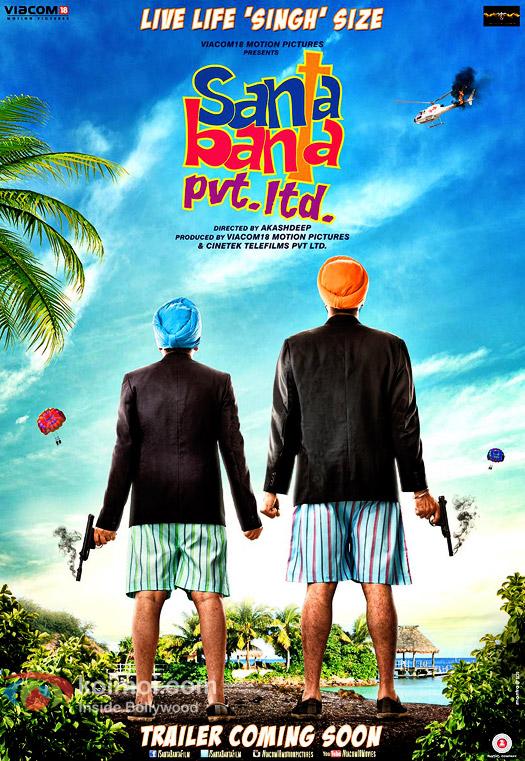 Boman Irani & Vir Das Starrer Santa Banta Pvt. Ltd. Poster Out!