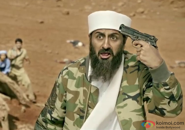 Pradhuman Singh in a still from movie 'Tere Bin Laden Dead Or Alive'