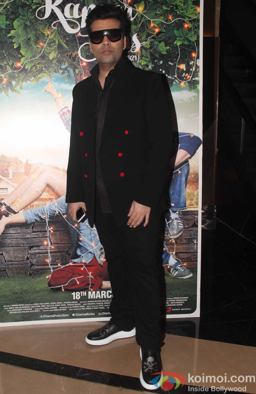 Karan Johar during the trailer launch of film Kapoor and Sons