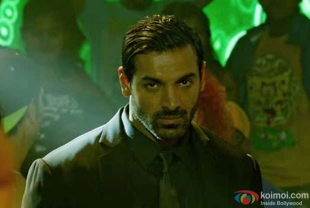 John Abraham in a Rock The Party song still from Rocky Handsome
