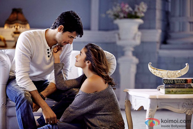 Sidharth Kapoor and Alia Bhatt in a still from Kapoor & Sons