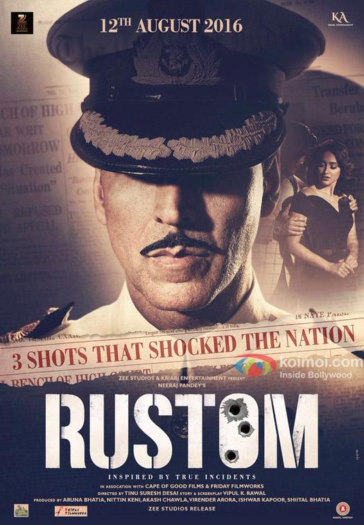 Akshay Kumar in a still from Rustom movie poster