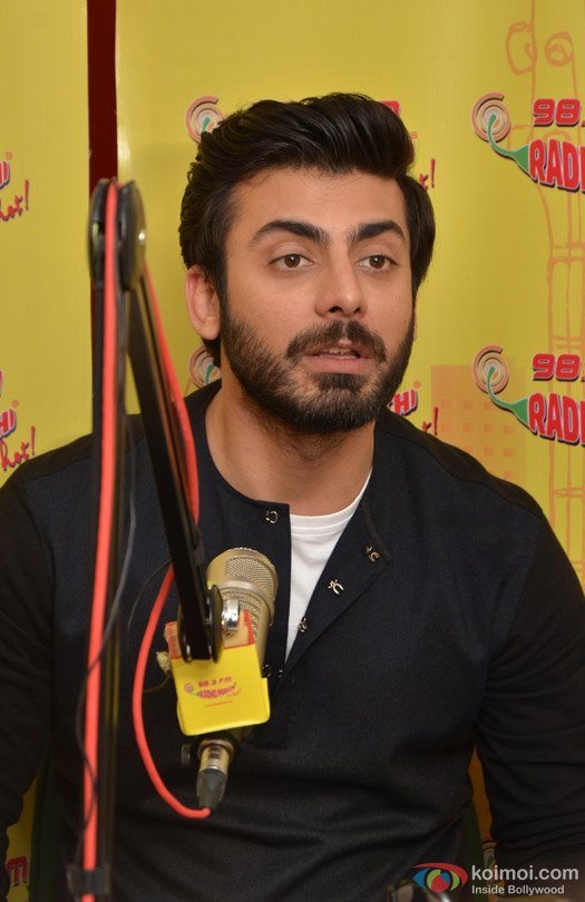 Fawad Khan during the promotion of movie 'Kapoor And Sons' at Radio Mirchi Studio