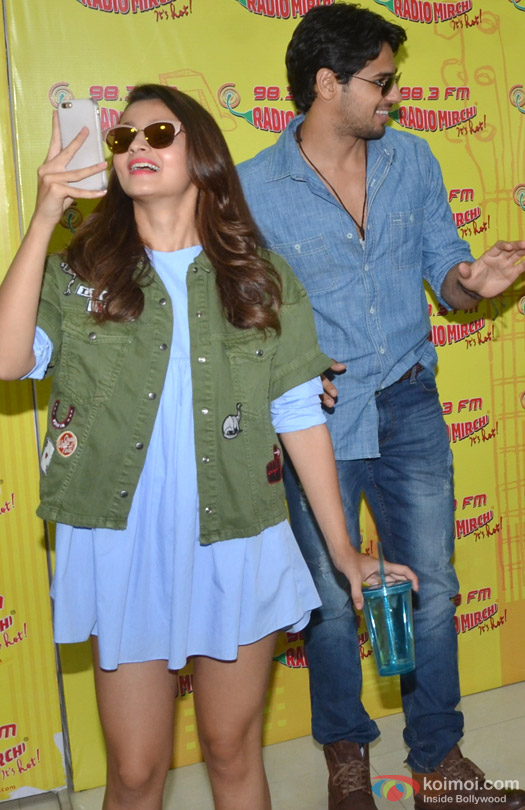 Alia Bhatt and Sidharth Malhotra during the promotion of movie 'Kapoor And Sons' at Radio Mirchi Studio