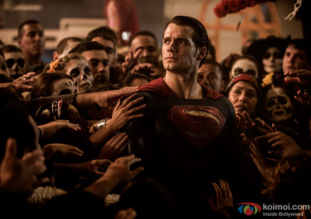 Henry Cavill in a still from movie 'Batman v Superman: Dawn of Justice'