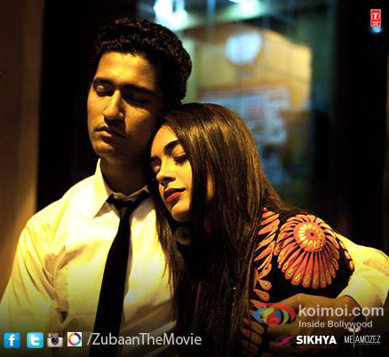 Vicky Kaushal and Sarah Jane Dias in a still from movie 'Zubaan'