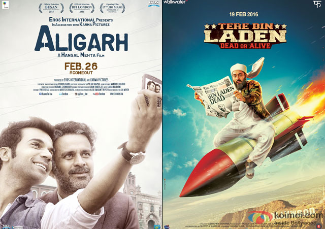Aligarh and Tere Bin Laden Dead Or Alive Movie Poster