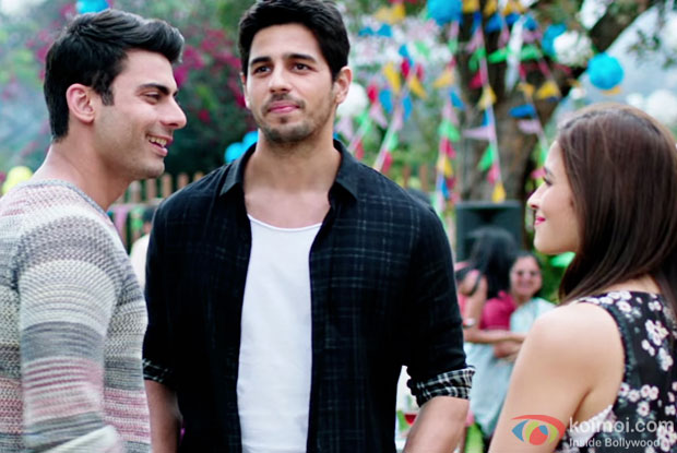 Fawd Khan, Sidharth Malhotra and Alia Bhatt in a still from Kapoor & Sons