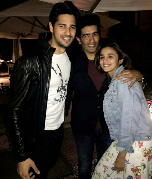 Alia Bhatt snapped celebrating her birthday with Sidharth Malhotra and Manish Malhotra