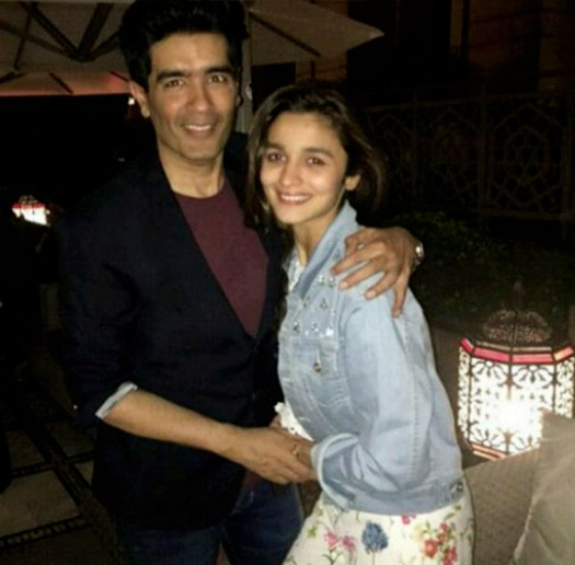 Alia Bhatt snapped celebrating her birthday with Manish Malhotra