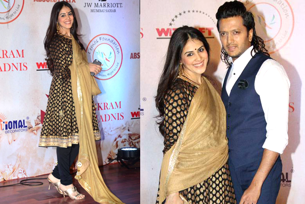 Genelia Deshmukh at fashion designer Vikram Phadnis's silver jubilee celebration