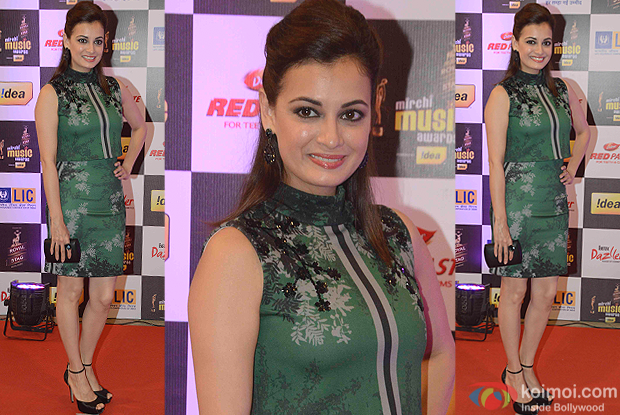 Dia Mirza during the 8th Mirchi Music Awards