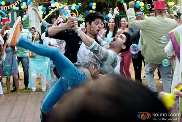 Sidharth Malhotra and Fawd Khan in a still from Kapoor And Sons