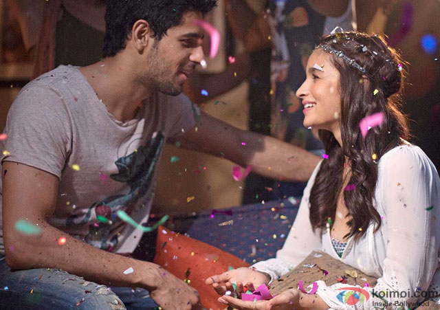 Sidharth Malhotra and Alia Bhatt in a still from movie 'Kapoor And Sons'