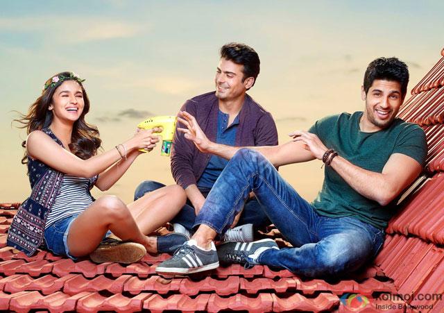 Alia Bhatt, Fawad Khan and Sidharth Malhotra in a still from movie 'Kapoor And Sons'