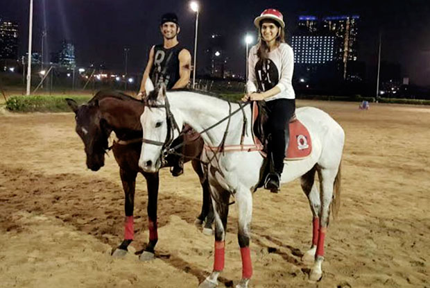 Sushant Singh Rajput and Kriti Sanon takes on horse riding on the sets of Raabta