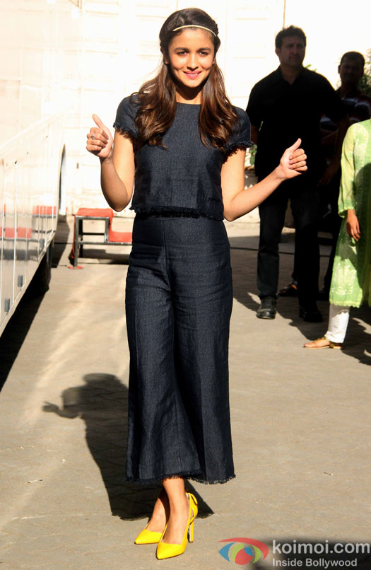 Alia Bhatt during the media interaction of Kapoor And Sons