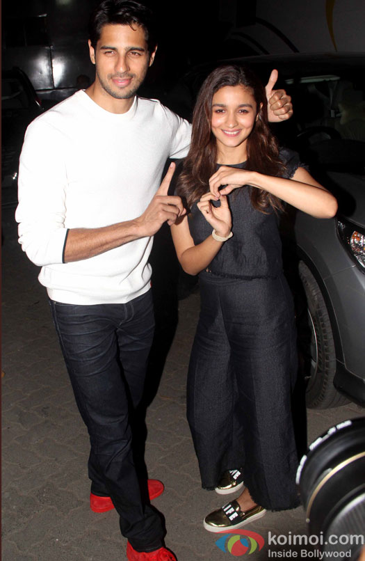 Sidharth Malhotra and Alia Bhatt during the media interaction of Kapoor And Sons