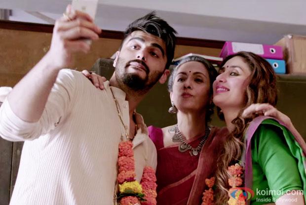 Arjun Kapoor and Kareena Kapoor in a Most Wanted Munda song still from Ki & Ka