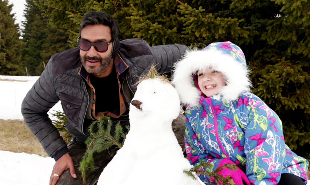 Ajay Devgn On The Sets Of Shivaay