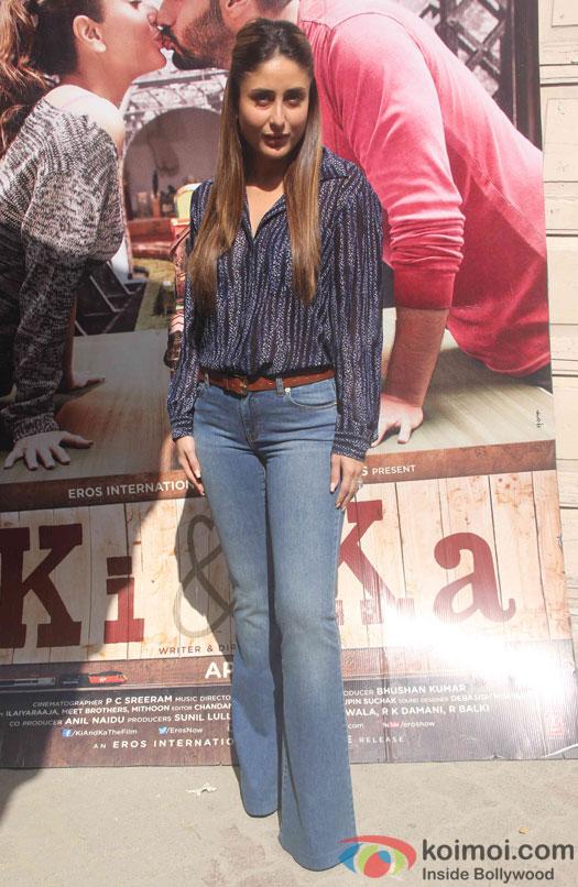 Kareena Kapoor during the promotion of film Ki and Ka