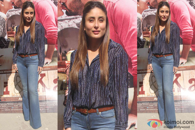 Kareena Kapoor during the promotion of film Ki and Ka