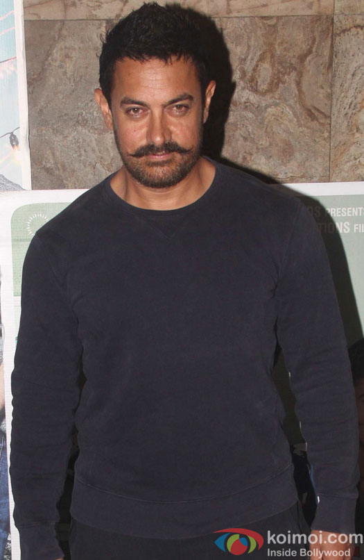 Aamir Khan during the screening of film Kapoor and Sons
