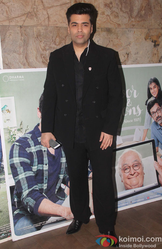 Karan Johar during the screening of film Kapoor and Sons