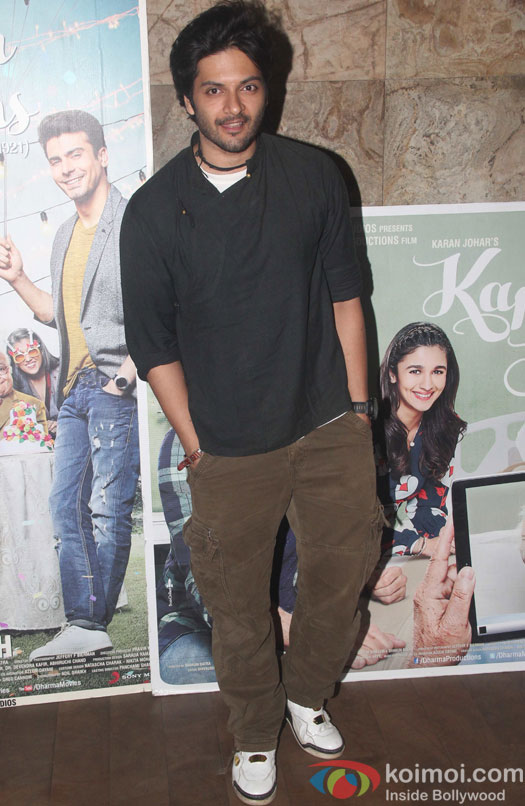 Ali Fazal during the screening of film Kapoor and Sons