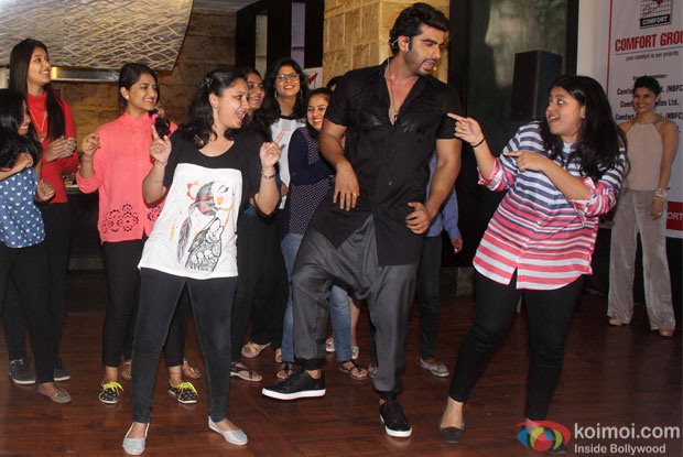 Arjun Kapoor and Kareena Kpaoor during the special lunch organised to promote film Ki and Ka