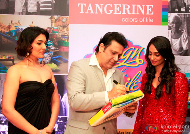 Govinda during the event to help India's old folks by Tangerine