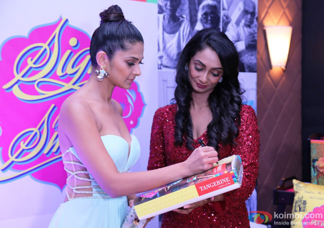 Jennifer Winget during the event to help India's old folks by Tangerine