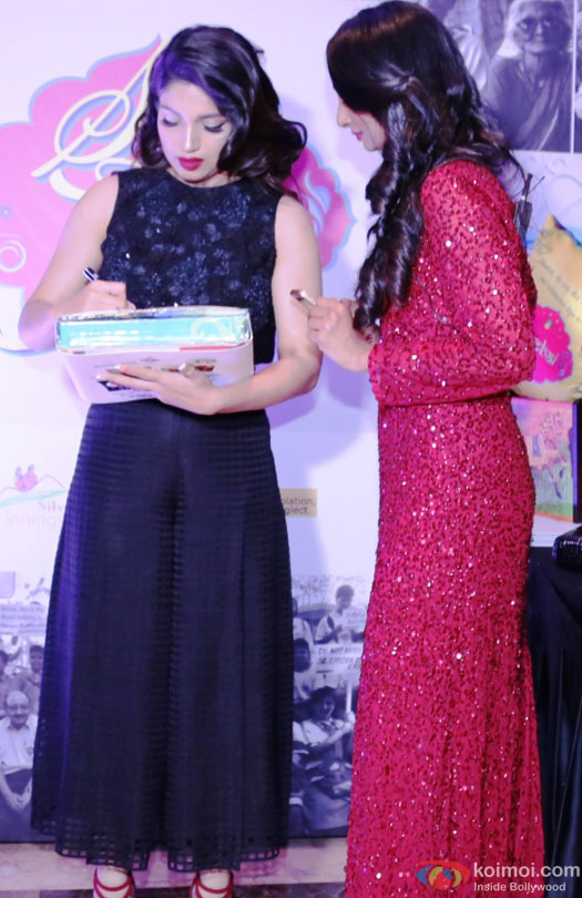 Bhoomi Pednekar during the event to help India's old folks by Tangerine
