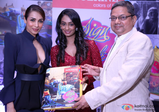 Malaika Arora Khan during the event to help India's old folks by Tangerine