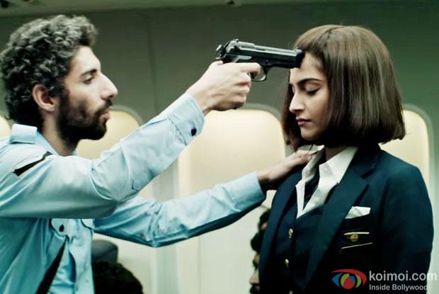 Sonam Kapoor in a still from Neerja