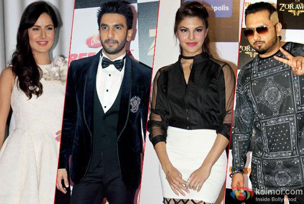 Katrina Kaif, Jacqueline Fernandes, Ranveer Singh and Yo Yo Honey Singh