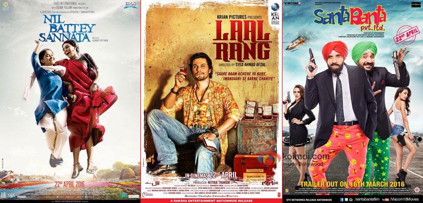 Box Office Predictions: Nil Battey Sannata, Laal Rang & Santa Banta Pvt. Ltd.