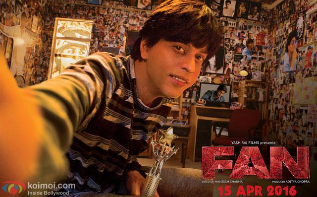 Shah Rukh Khan in a still from movie 'Fan'