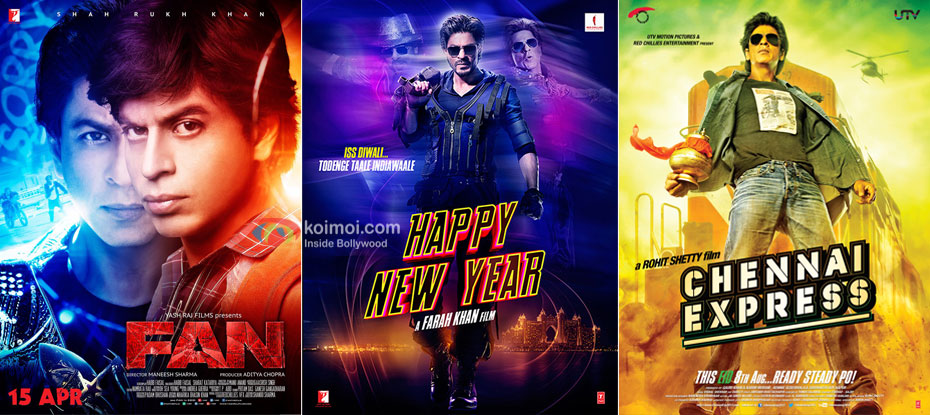 Fan Vs Happy New Year & Chennai Express 5 Days Collection