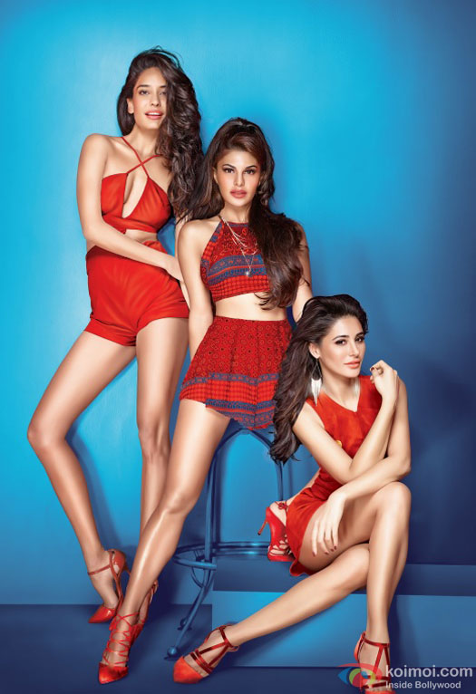 Lisa Haydon, Jacqueline Fernandez and Nargis Fakhri in a first look still from movie 'Housefull 3'