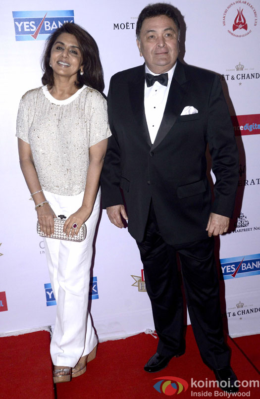 Rishi Kapoor along with his Wife Neetu Singh during the Hello! Hall of Fame Awards 2016