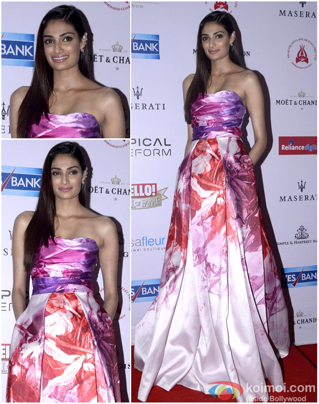 Athiya Shetty during the Hello! Hall of Fame Awards 2016