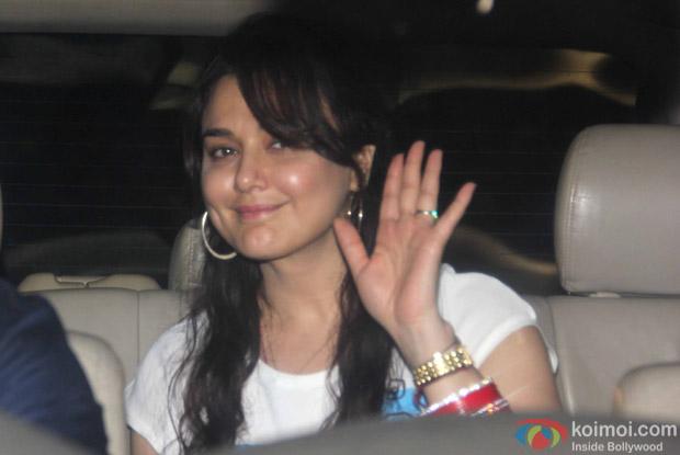 Preity Zinta Snapped at Manish Malhotra's Party!