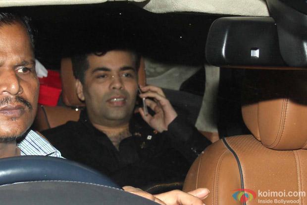 Karan Johar Snapped at Manish Malhotra's Party!