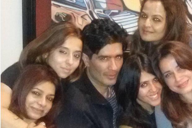 Ekta Kapoor and Neelam Kothari Snapped at Manish Malhotra's Party!