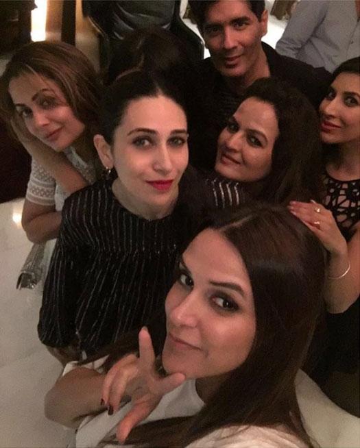 Neha Dupia, Sophie Choudry, Karishma Kapoor and Amrita Arora Snapped at Manish Malhotra's Party!